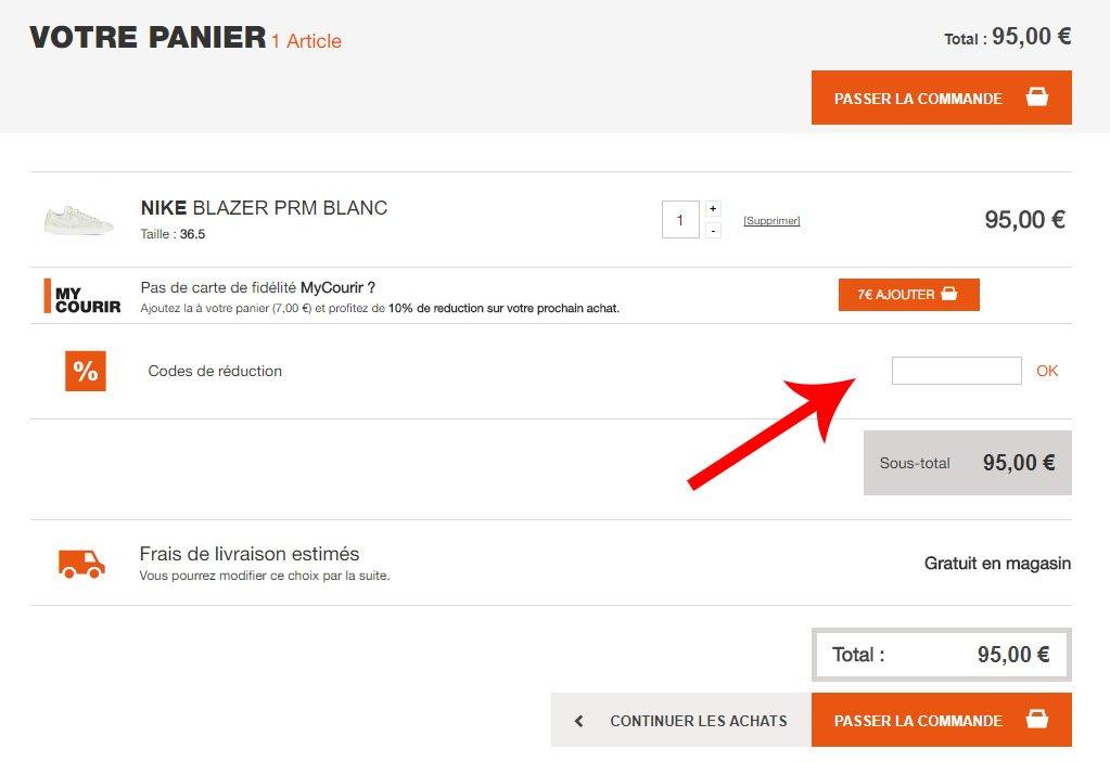 db16255141246f ... réduction sur vos achats en ligne ! codes promo courir